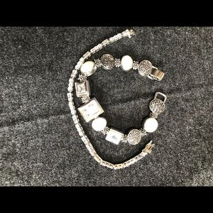 Jewelry - Stackable silver bracelets